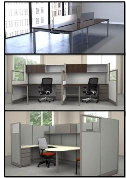 individual modular office desks
